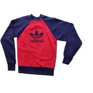Vintage 1990s Adidas Logo Crew Sweatshirt Kids M